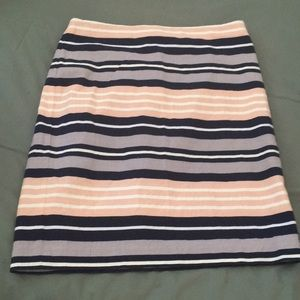 Pencil skirt, striped color, size 6